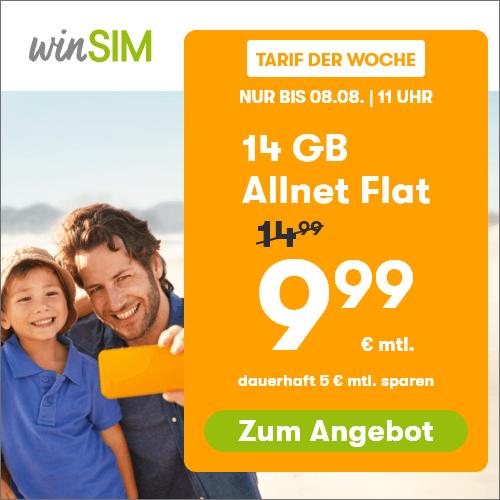 AKTION: Allnet-Flat & 7 GB LTE für 7,99 € statt 12,99 € mtl.